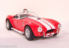 RED 1965 65' SHELBY COBRA 427 S/C  Vehicle Diecast 1/32 Pull Back Sportscar