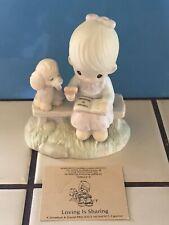 "Precious Moments ""Loving Is Sharing� Figurine—4 1/2� ~ w/card —No Box"