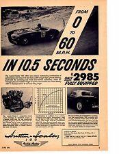 1955 AUSTIN-HEALEY 100  ~  ORIGINAL B&W PRINT AD