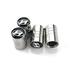 Universal Car Wheel Tire Air Valve Stems Caps Dust Cover Logo Emblem For Hyundai