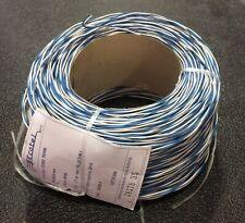 Matassa cordoncino cavo telefonico doppino TR 2x0,6mm da 250mt bianco/blu Ecotel