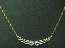 14kt 585 GELB GOLD COLLIER MIT DIAMANT BESATZ / 2,9g / 41,5 cm