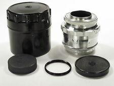 Silver Jupiter-9 f/2.0 85 mm M39/M42 lens Zenit-type SLR S/N 6705468 CLA! MINT-!