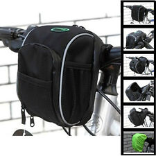 Cycling Bags Bike Bicycle Handlebar Bag Front Basket Black with Rain Cover