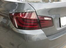 2011-14 BMW 5 SERIES F10 SMOKED TAIL LIGHT /w REVERSE CUTOUT PRECUT TINT OVERLAY