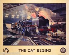 The Day Begins Great Britain Vintage Travel Advertisement Poster Picture Print