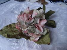 VELVET HYDRANGEAS CREAM, PINK,& BLUE  MILLINERY FLOWERS