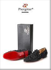 New Handmade Long Gold Rivet Men Red Bottom Loafers Gentleman Luxury DHL FAST