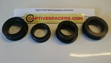 CBR600RR  2003- 2004 Captive wheel Spacers. Full set. UK made. Black