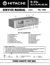Service Manual-Anleitung für Hitachi D-22 S