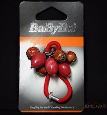 Babyliss Ladies/Girls Hair Bobble Red Berry&Charm Design,Summer Stretch Bands