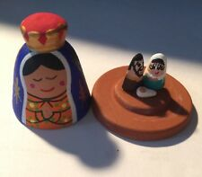 Miniature Nativity Set Figurines Covered With Our Lady Of Guadalupe From Mexico