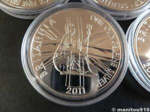 2011 Britannia .958 1oz fine silver coin