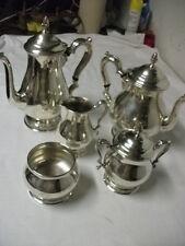 Prelude Sterling Silver  5 piece Tea/Coffee set