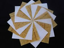 30 4x4 Yellow Quilt Fabric Squares~4059b