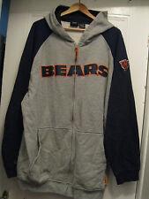 Chicago Bears Foot Ball Hoodie sweatshirt full zip zipper NFL 3XL T jacket TALL