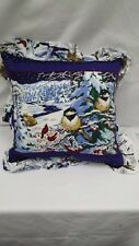 "Winter Birds Scenic Nature Scene   16"" Throw Pillow"