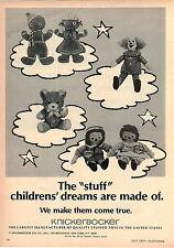 1970 ADVERT Knickerbocker Plush Aminals Toy Toys Gingerbread Man Teddy Bear