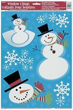 Snowman Window Clings - Christmas Tableware Stickers