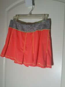 Womens Sz m  Fila Bold Blast Neon Coral Grey Athletic Tennis skirt