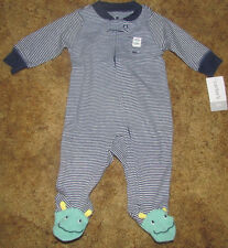 Boys Carter's NWT long sleeved navy stripe Center of Mommy's Universe pjs size3m