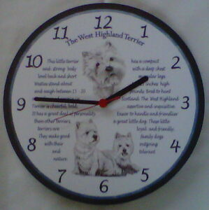 The West Highland Terrier Barry Operated Wooden Wall Clock