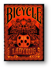 Limited Edition Bicycle Ladybug (Black) Playing Card Poker Spielkarten Cardistry