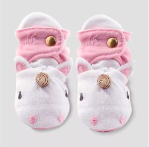New Cloud Island Unicorn Bootie Wrap Pink Baby Girls Infant 3-6M