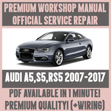WORKSHOP MANUAL SERVICE & REPAIR GUIDE for AUDI A5 S5 RS5 2007-2017 +WIRING