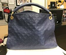 Louis Vuitton Artsy MM Empreinte Monogram Leather Blue Handbag Purse