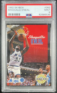 1992 SkyBox Shaquille O'Neal #382 Basketball Card Los Angeles Lakers PSA 9!!!!!!