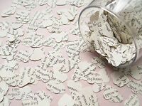 Novel Book Heart Confetti - 25 Book Choices - Wedding Table Decoration Hearts