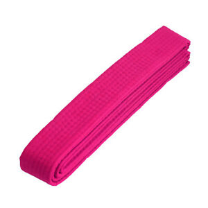 "New Taekwondo Karate Martial Arts 1.5"" Wide Belts Double Wrap Belts, Pink Belt"