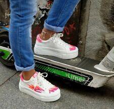 Buffalo Schuhe Paired Flames weiß pink 16304791 Damen Plateau Sneaker Vegan
