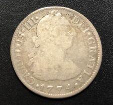 Mexico 1774FM  2 Reales Silver Coin: Carlos III