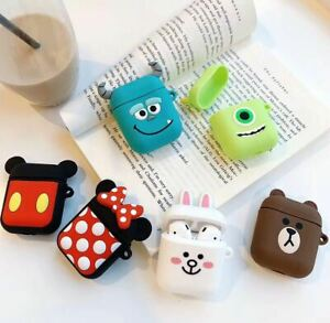 Protective Case For Apple Airpods 1 & 2 Cute Funny Apple Earphones Cartoon Cover