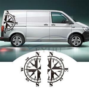 2pcs Body Decor 73x125cm Compass Vinyl Sticker Caravan Travel Trailer Camper Van