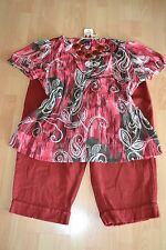 WOMENS PLUS SIZE CLOTHING Lot Of 3 Sz 24W 22/24 Capri Pants Blouse Top Necklace