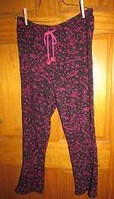 "Joe Boxer women's large pj pajama lounge bottom Polyester W33-43"" EUC"