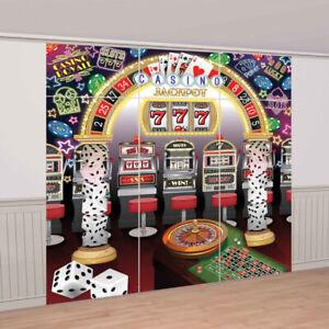 Party Supplies Birthday Fundraiser Jackpot Vegas Casino Selfie Photo Wall Scene