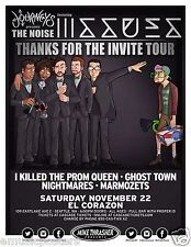 ISSUES/I KILLED THE PROM QUEEN/GHOST TOWN NOISE TOUR 2014 SEATTLE CONCERT POSTER