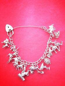 Sweet Silver Hallmarked Animal Charm Bracelet