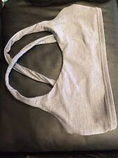 Lily Of France Gray Back Hook Cross Wireless Sports Bra Size L