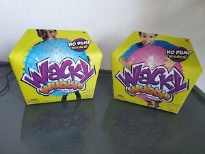 Wacky Wubble Bubble Ball 1 Blue 1 Pink Lot Of 2