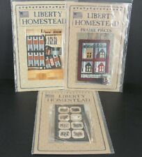 Liberty Homestead Patterns Quilt Lot of 3 Saltbox Soldiers Rabbits Blue Whale
