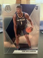 2019-20 Panini Mosaic Zion Williamson Rookie Base #209 New Orleans Pelicans RC 1