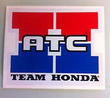 """LARGER!!! Team Honda ATC Reproduction Decal 14.5"""" 250R 350X 70 200X"""