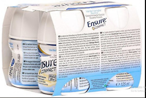 48 Ensure Compact Vanilla Flavour Nutrition Drink 125ml SEALED FAST FREE POST