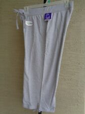 NWT Just My Size Cotton Blend French Terry Jersey  Pull On  Capris 1X Heather