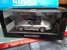 MINICHAMPS 1/43 DODGE VIPER COUPÉ DE 1993 BRIGHT SILVER NEUF  BOITE